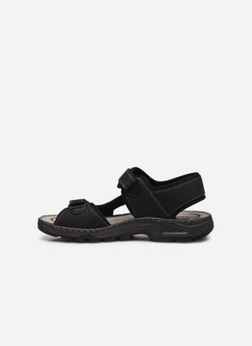 Sandalen Rieker Eryk Zwart voorkant