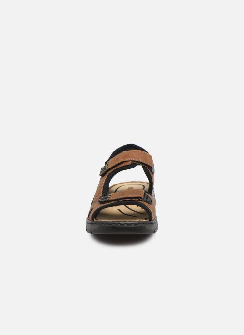 Sandales et nu-pieds Rieker Eryk Marron vue portées chaussures