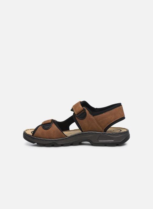 Sandales et nu-pieds Rieker Eryk Marron vue face