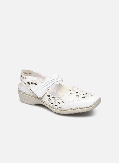 Ballerinaer Rieker Faiza Sølv detaljeret billede af skoene