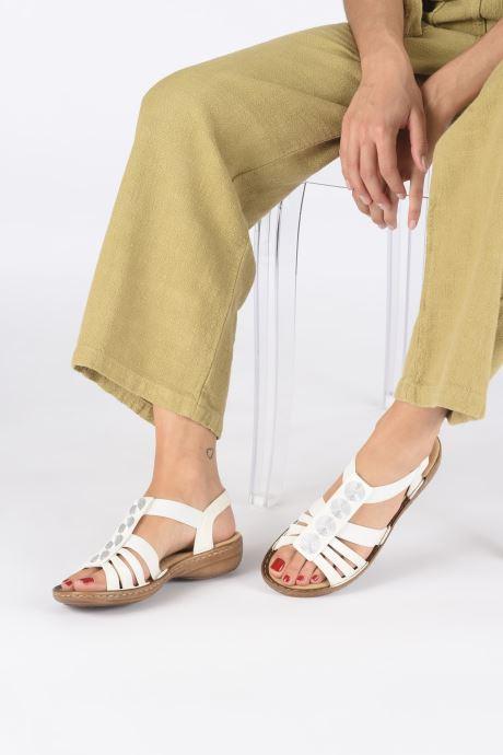 Sandales et nu-pieds Rieker Amrita Blanc vue bas / vue portée sac