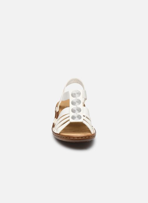 Sandales et nu-pieds Rieker Amrita Blanc vue portées chaussures