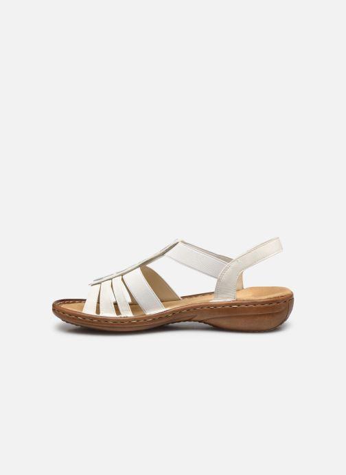 Sandales et nu-pieds Rieker Amrita Blanc vue face