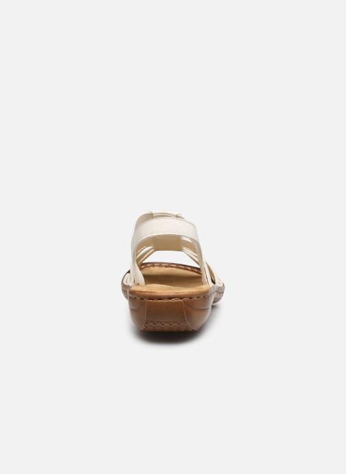 Sandales et nu-pieds Rieker Amrita Blanc vue droite