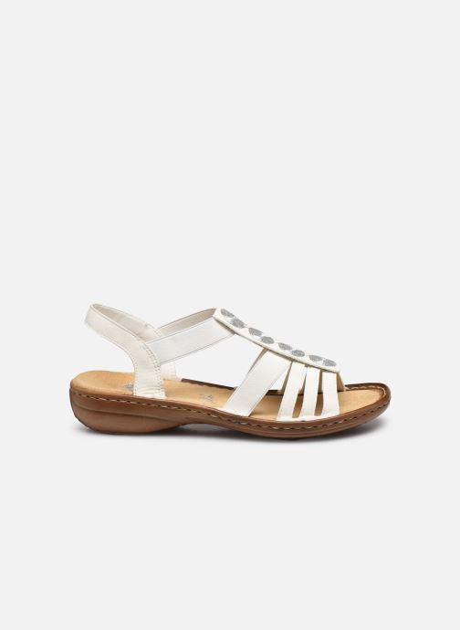Sandales et nu-pieds Rieker Amrita Blanc vue derrière