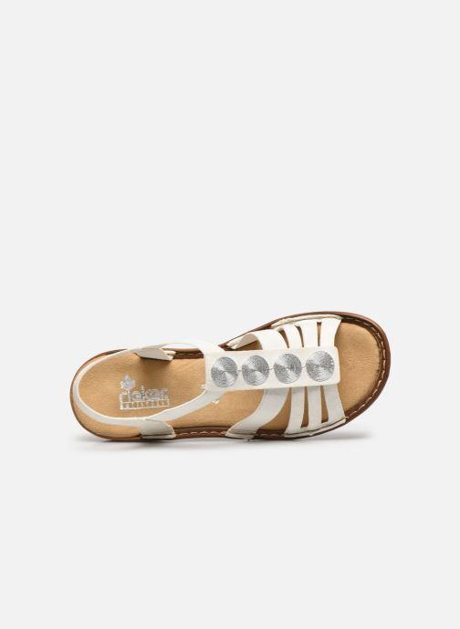 Sandales et nu-pieds Rieker Amrita Blanc vue gauche