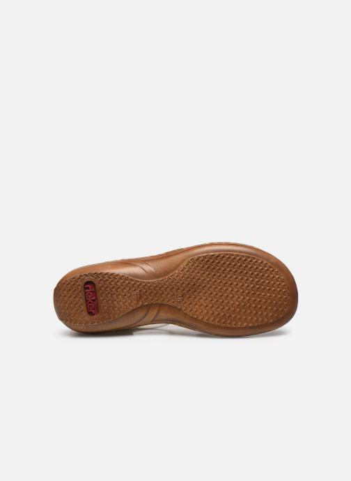 Sandales et nu-pieds Rieker Amrita Blanc vue haut