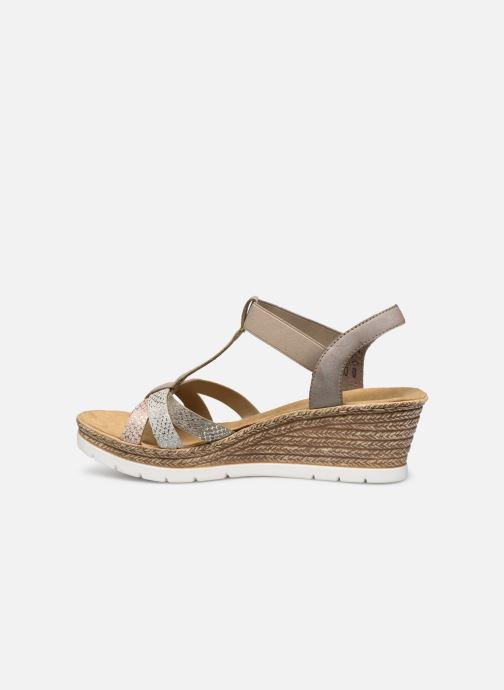 Sandales et nu-pieds Rieker Karishma Gris vue face