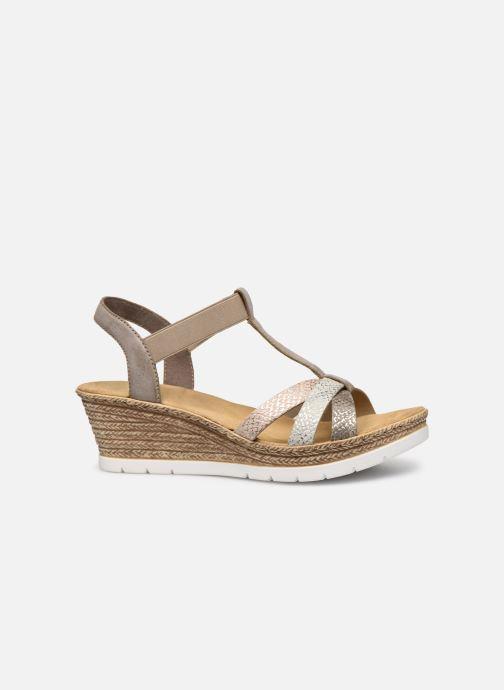 Sandales et nu-pieds Rieker Karishma Gris vue derrière