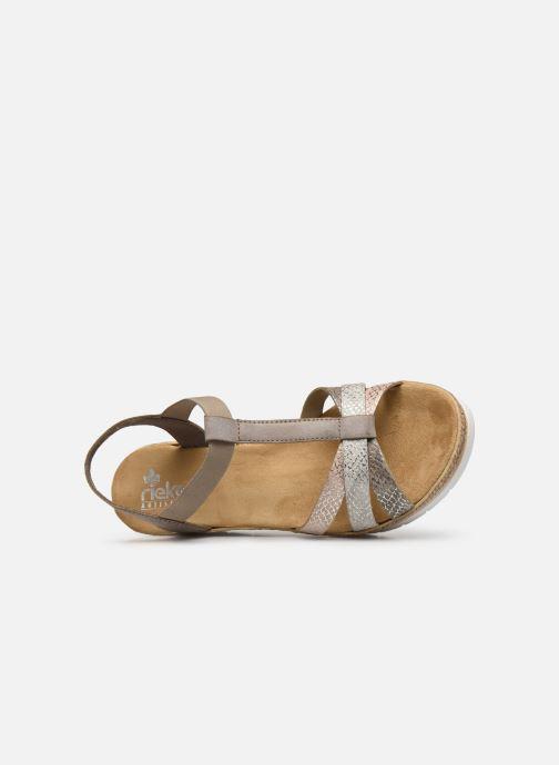 Sandales et nu-pieds Rieker Karishma Gris vue gauche
