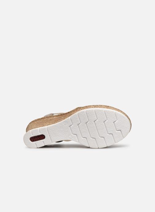 Sandales et nu-pieds Rieker Karishma Gris vue haut