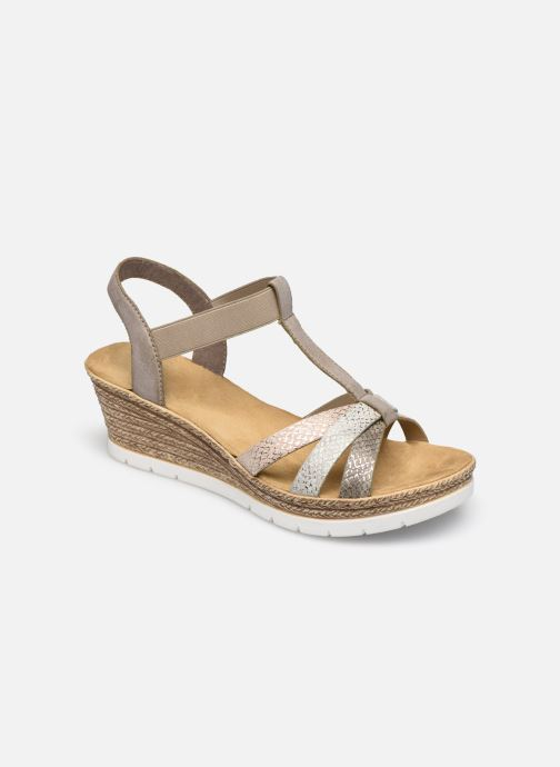 Sandales et nu-pieds Rieker Karishma Gris vue détail/paire