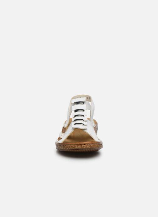 Sandales et nu-pieds Rieker Sohan Blanc vue portées chaussures