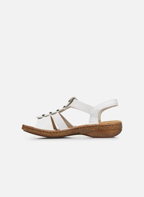 Sandales et nu-pieds Rieker Sohan Blanc vue face