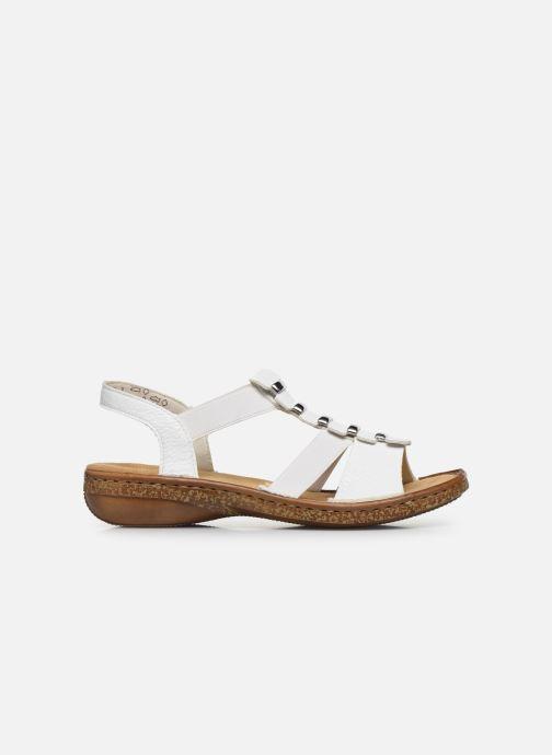 Sandales et nu-pieds Rieker Sohan Blanc vue derrière