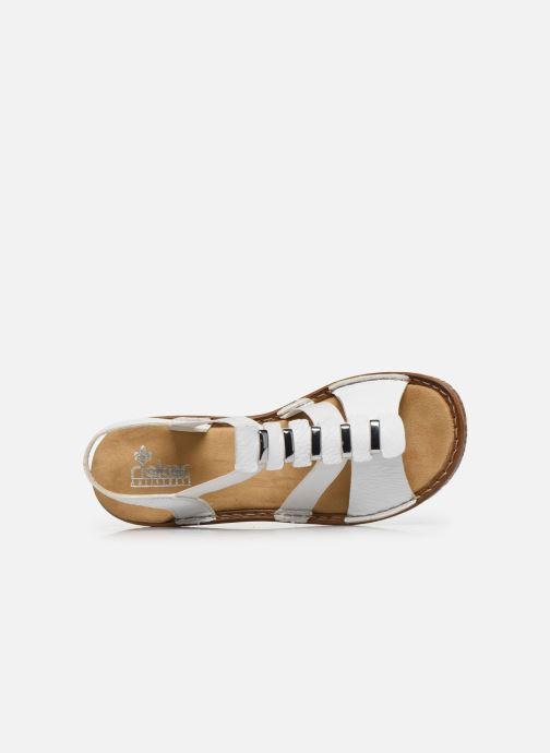 Sandales et nu-pieds Rieker Sohan Blanc vue gauche