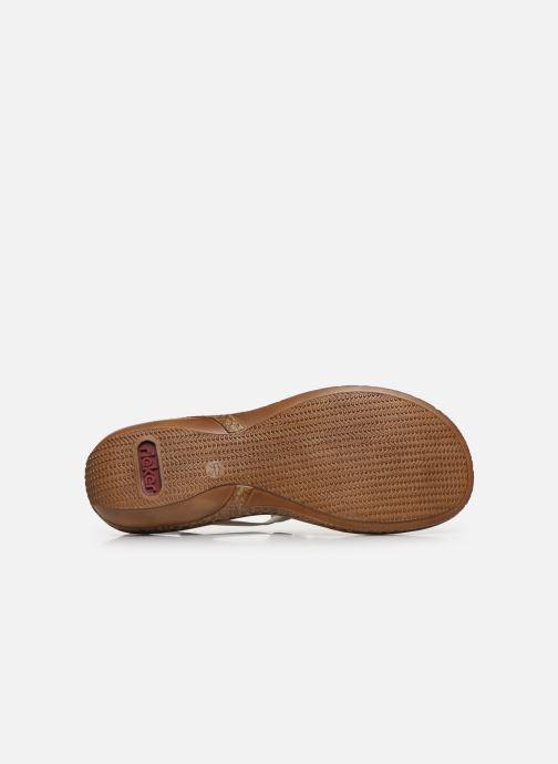 Sandales et nu-pieds Rieker Sohan Blanc vue haut