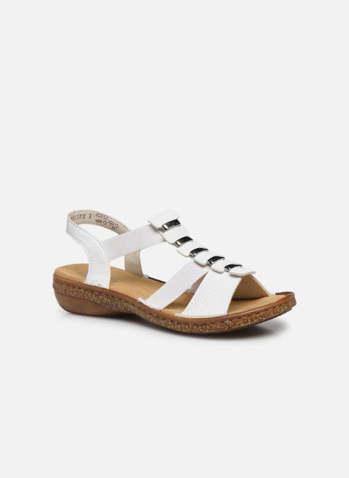 Rieker Sohan (Blanc) Sandales et nu pieds chez Sarenza