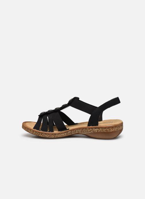 Sandales et nu-pieds Rieker Emilie Noir vue face
