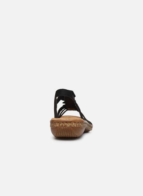 Sandales et nu-pieds Rieker Emilie Noir vue droite