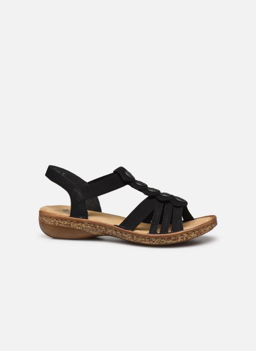 Sandales et nu-pieds Rieker Emilie Noir vue derrière
