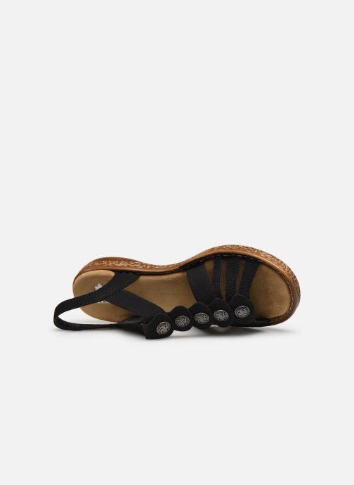Sandales et nu-pieds Rieker Emilie Noir vue gauche