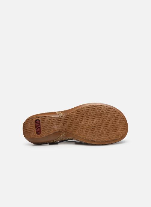 Sandales et nu-pieds Rieker Emilie Noir vue haut