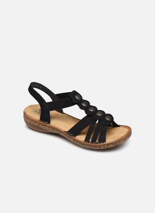 Sandales et nu-pieds Rieker Emilie Noir vue détail/paire