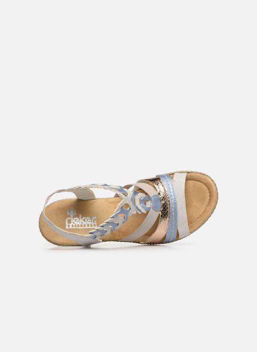 Sandales et nu-pieds Rieker Manon Gris vue gauche