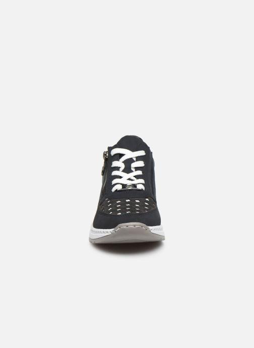Baskets Rieker Anil Bleu vue portées chaussures