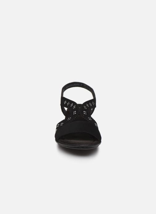 Sandali e scarpe aperte Rieker Yash Nero modello indossato