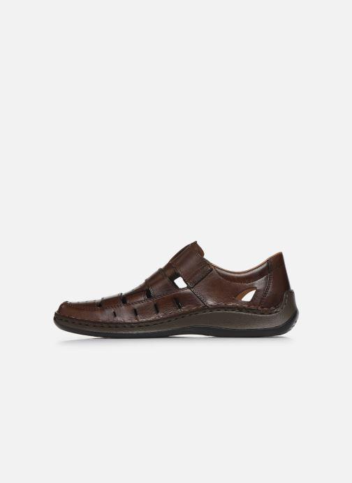 Sandales et nu-pieds Rieker Franciszek Marron vue face