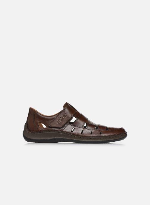 Sandales et nu-pieds Rieker Franciszek Marron vue derrière