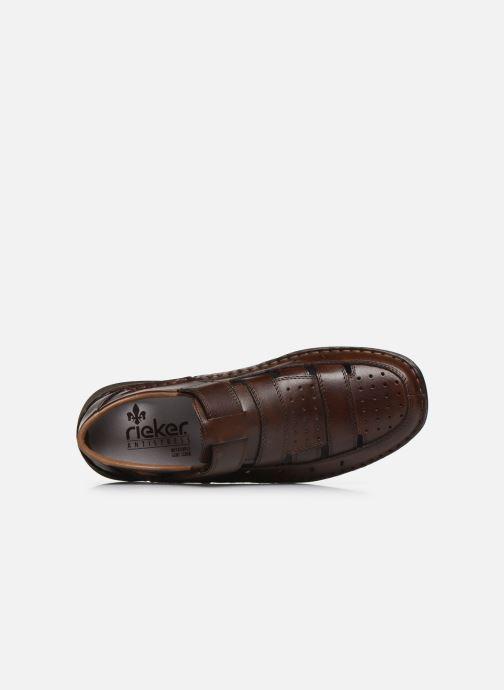 Sandales et nu-pieds Rieker Franciszek Marron vue gauche