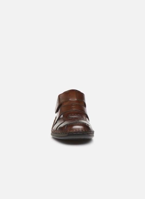Sandales et nu-pieds Rieker Iwan Marron vue portées chaussures