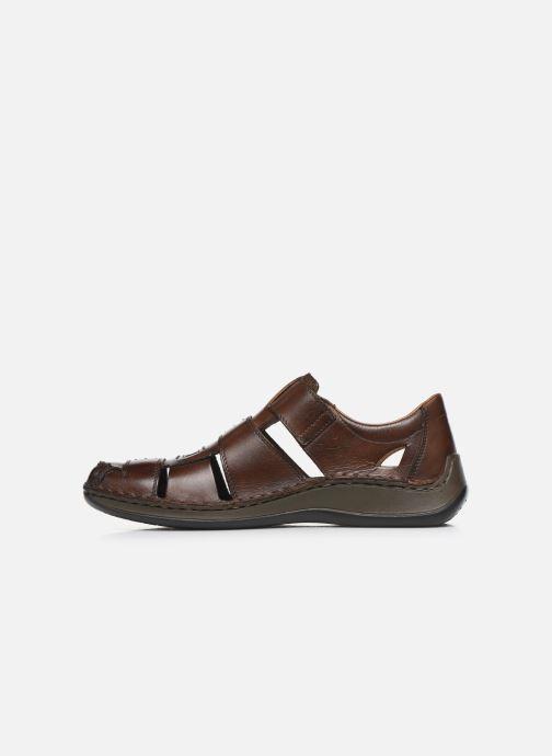 Sandales et nu-pieds Rieker Iwan Marron vue face