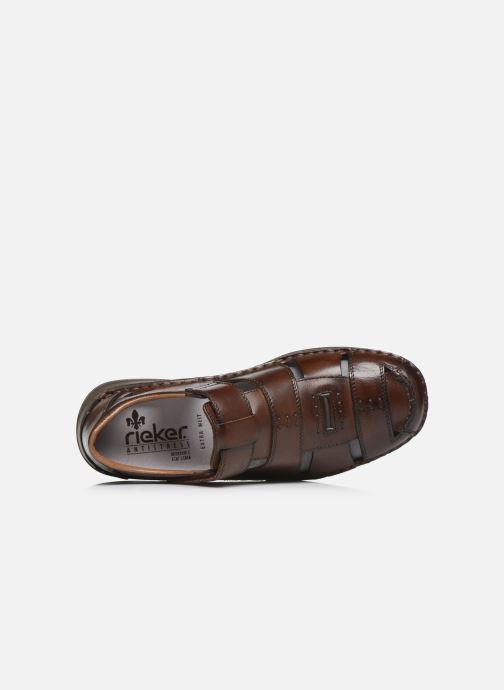 Sandales et nu-pieds Rieker Iwan Marron vue gauche