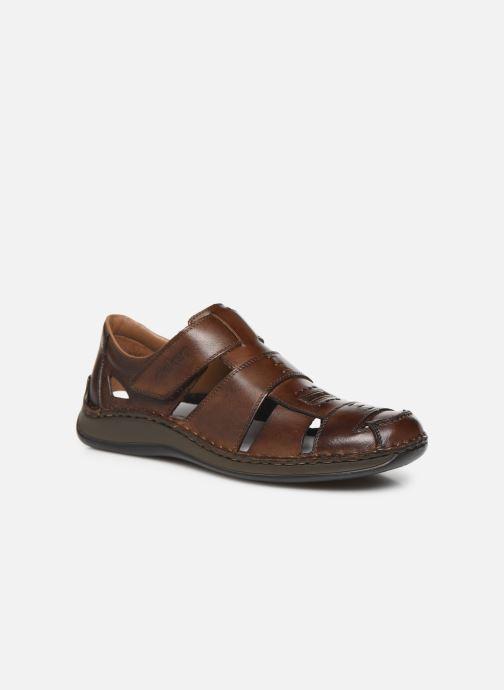 Sandales et nu-pieds Rieker Iwan Marron vue détail/paire