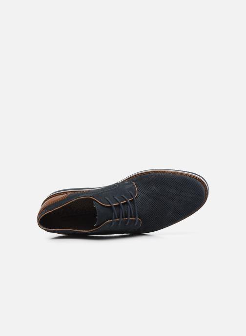 Zapatos con cordones Rieker Kamil Azul vista lateral izquierda
