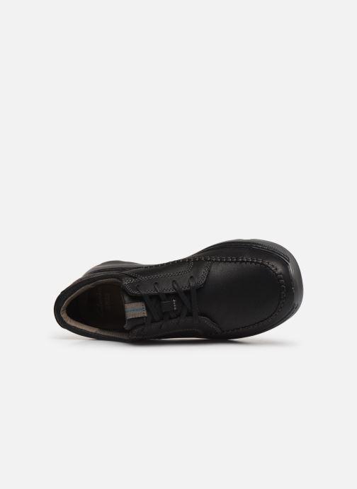 Zapatos con cordones Clarks Charton Vibe Negro vista lateral izquierda