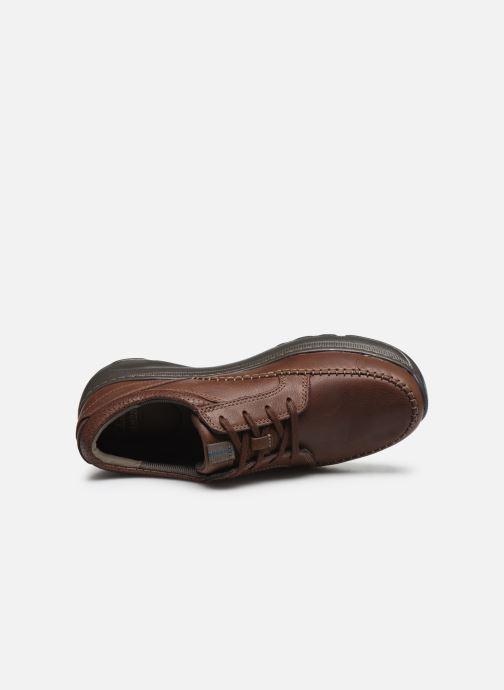 Zapatos con cordones Clarks Charton Vibe Marrón vista lateral izquierda