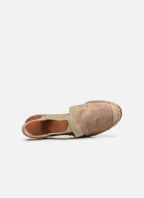 Alpargatas Georgia Rose Soft Coloupi Beige vista lateral izquierda