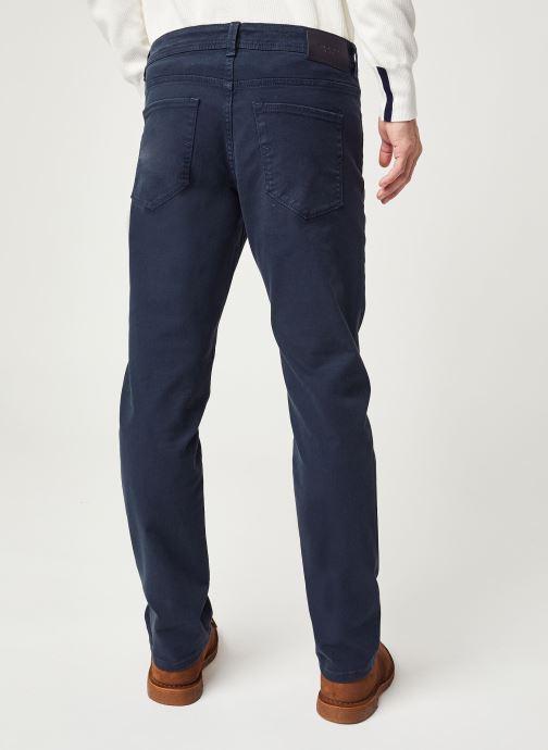 Vêtements Selected Homme Slhslim Leon Bleu vue portées chaussures