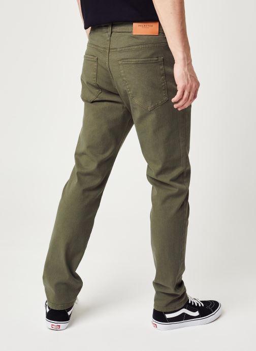 Vêtements Selected Homme Slhslim Leon Vert vue portées chaussures