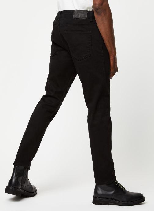 Vêtements Selected Homme Slhslimtape Toby Noir vue portées chaussures