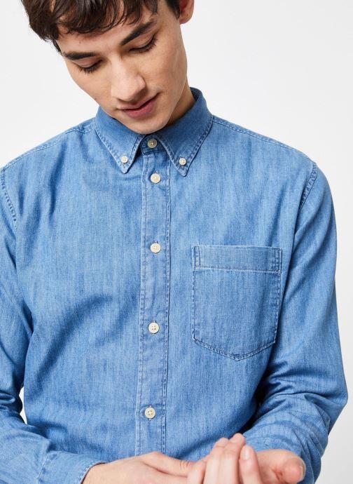 Vêtements Selected Homme Slhregperfect Larson Bleu vue face