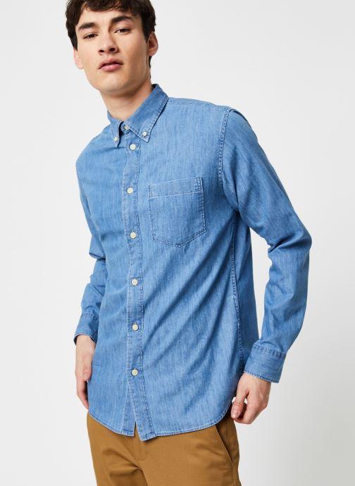Vêtements Selected Homme Slhregperfect Larson Bleu vue droite