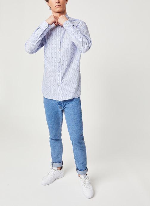 Vêtements Selected Homme Slhregpen Sixten Shirt Bleu vue bas / vue portée sac