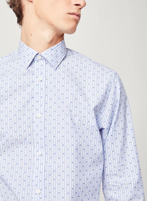 Vêtements Selected Homme Slhregpen Sixten Shirt Bleu vue face