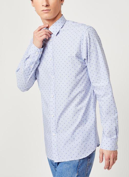 Vêtements Selected Homme Slhregpen Sixten Shirt Bleu vue droite